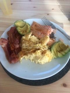 Salmon, Bacon, Eggs and Avocado