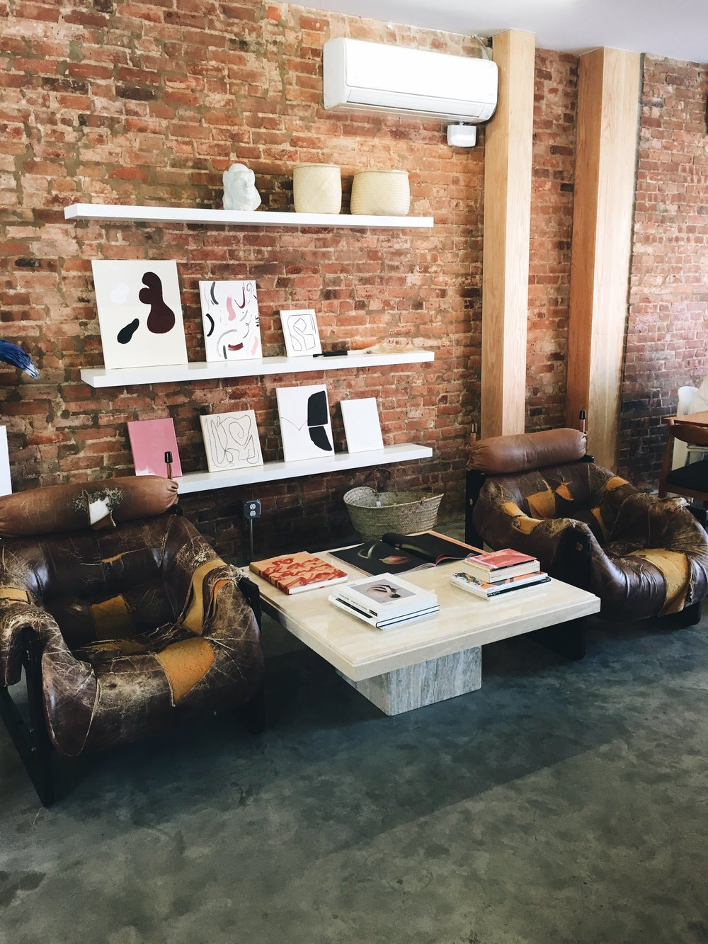 The decor of    Sincerely, Tommy    (also in Bed Stuy) is the perfect blend of vintage + modern. Grab a latte + pastry while you shop for one-of-a-kind finds.