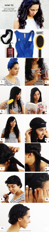 Como Rizar Tu Pelo Sin Calor // ¡TUTORIAL DE CABELLO! Crea tu propio salón en la casa! Aprende como rizar tu pelo sin calor en sólo 15 minutos. Necesitarás solamente una venda y pinchos.