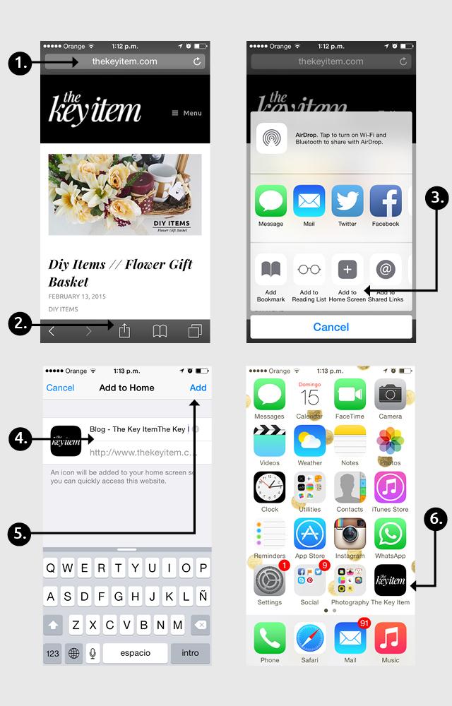 Como Instalar Un Icono App De 'the Key Item' // Cómo agregar un icono app a tu pantalla de inicio y mantenerte conectado con el blog en tu celular. ¡Sigue estos pasos super fáciles!
