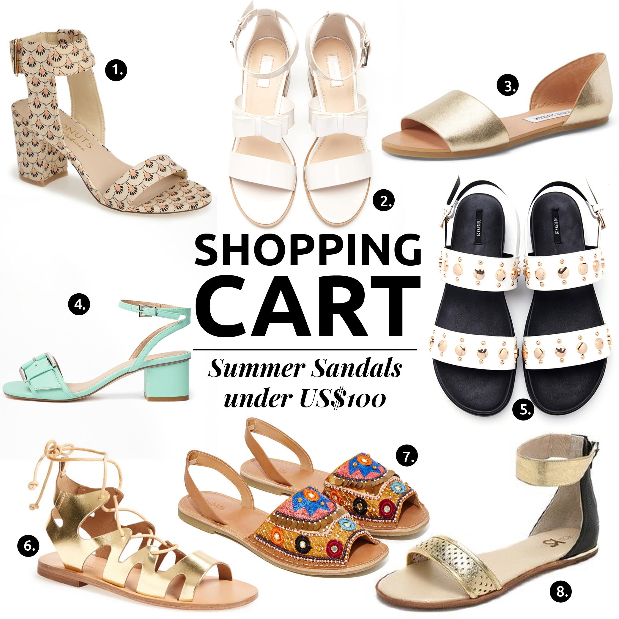 Las Sandalias De Verano Mas Chic En Menos De US$100 // ¿Lista para algunas opciones chic de las sandalias de verano? Con el estilo adecuado, podrías usarlas con un atuendo más formal. ¡Créeme!