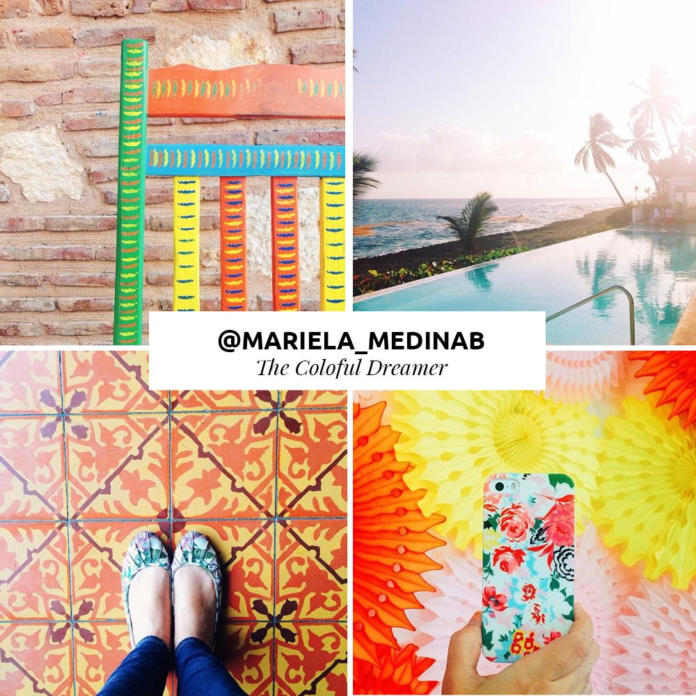 Mariela es mi hermana menor y fundadora oficial de Ela Design Studio. - Si te gustan los color brillantes, la comida hermosamente presentada, los 'chardeliers' y los artículos vintage; debes seguirla inmediatamente.