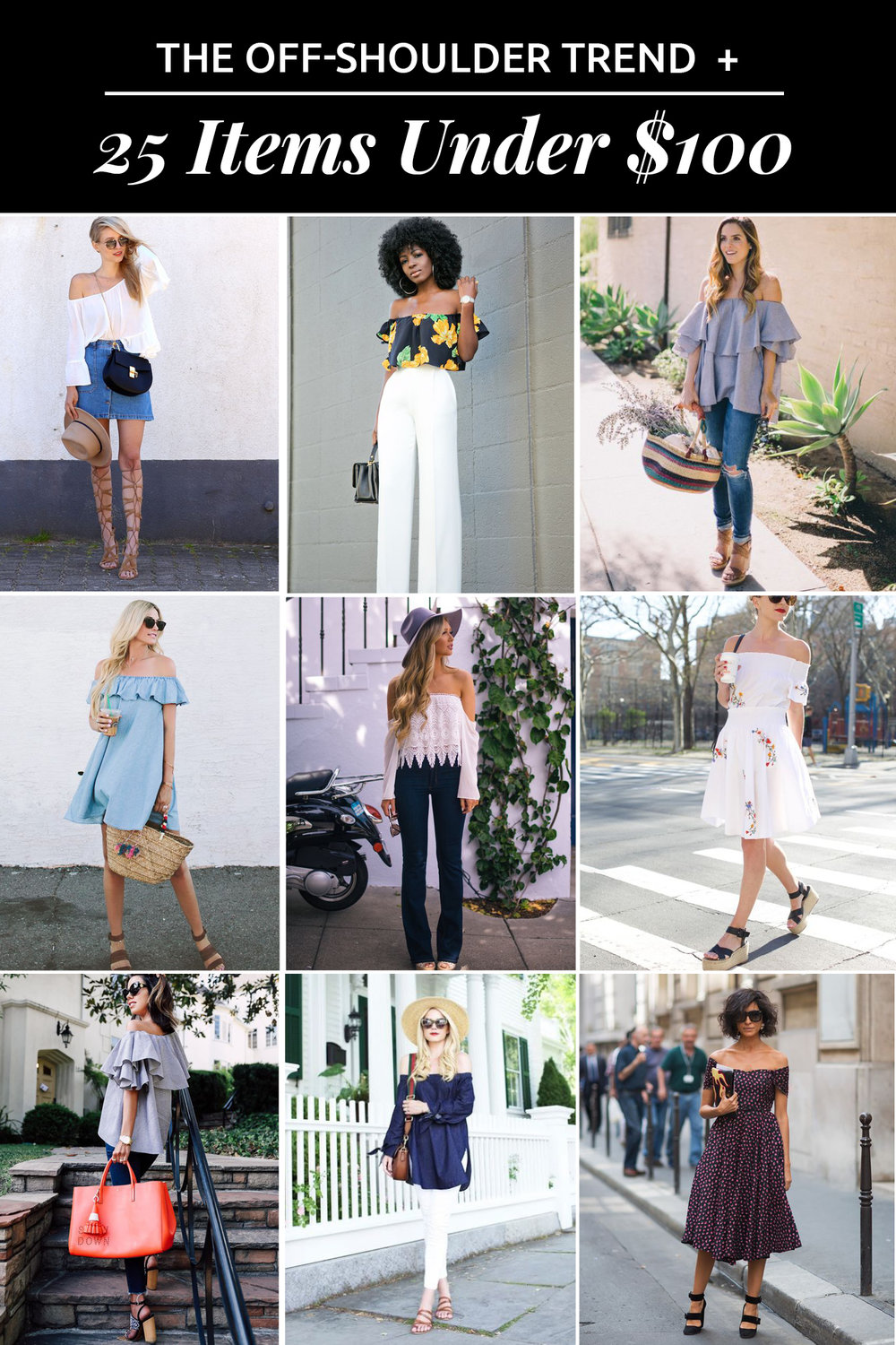 The Off Shoulder Trend + 25 Items Under $100