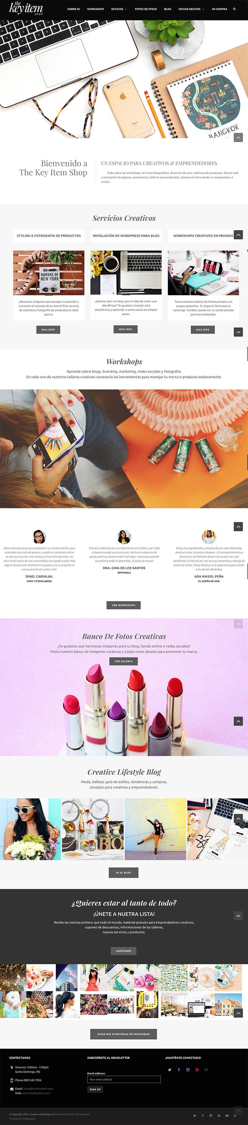 Nueva Tienda Virtual para creativos y emprendedores. En The Key Item Shop encontrarás servicios fotográficos, fotos en stock, consultorias y talleres.