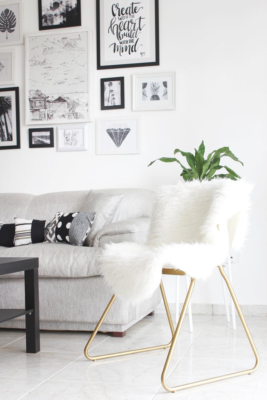 IKEA HACK: CONVERTIR UNA SILLA ABURRIDA EN UNA PIEZA GLAMUROSA // Hoy quiero compartir con ustedes un ikea hack fácil de hacer. Mostraré cómo le di un toque sofisticado y glamuroso a una silla aburrida.