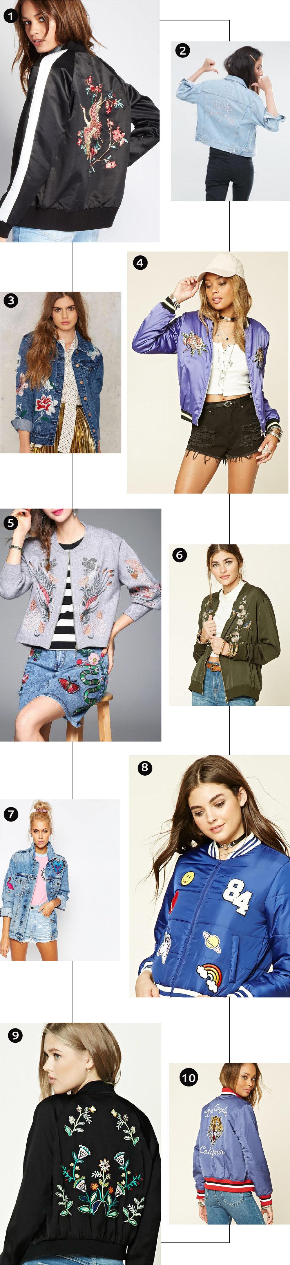 Chaquetas Decoradas: La Tendencia Mas Cool Del Otoño 2016 // De terciopelo a las chaquetas decoradas, podemos ver que este otoño de 2016 está lleno de tendencias divertidas. ¿Estas emocionada por esta tendencia?