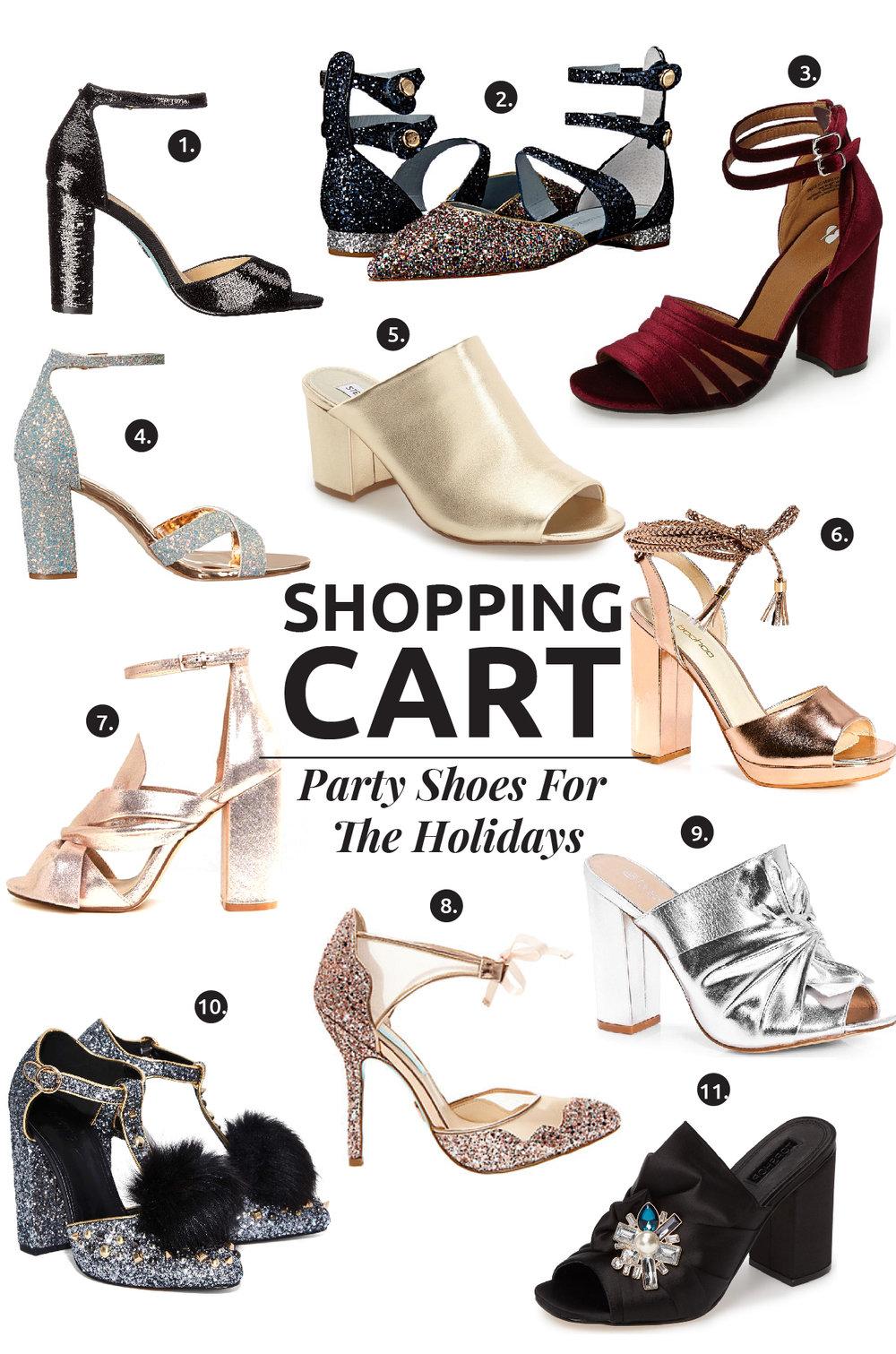 11 Estupendos Zapatos Festivos En Menos De USD $150 / Toda chica merece unos tacones de fiesta en su armario, por eso hoy les enseño 11 zapatos festivos adsequibles para esta temporada.