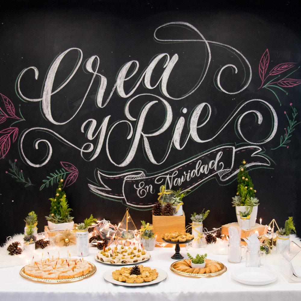 Chalkboard lettering, Finger Food table decor | The Key To Blog Blogging Creative Workshop