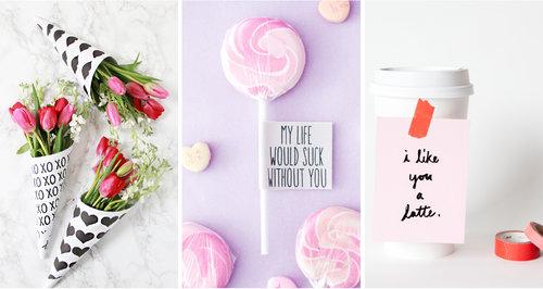 6 Fáciles Regalos DIY De San Valentín - Descargas Gratuitas