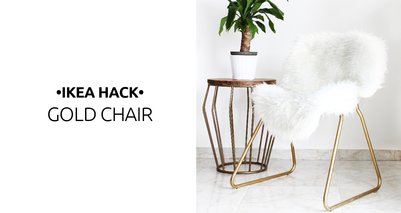Ikea Hack: Convertir Una Silla Aburrida En Una Pieza Glamurosa