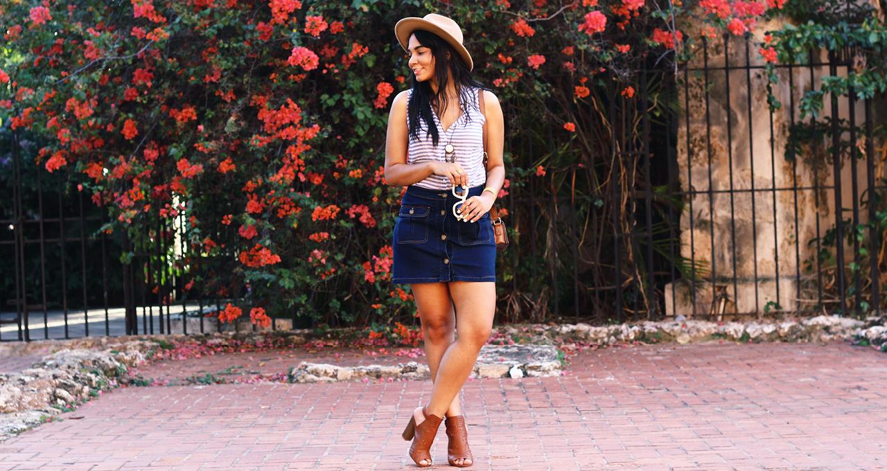 La Mini Falda De Denim | Aprende Como Lucirla