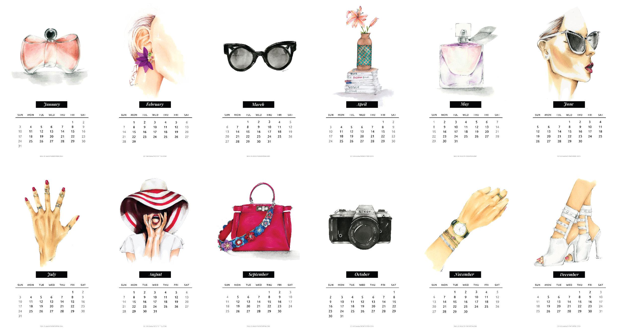 Calendario Ilustrado 2016 Gratis
