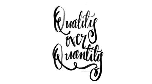 Por Qué Necesitas Trabajar Por Calidad Sobre Cantidad