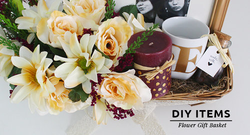 DIY / How To Make The Ultimate Flower Gift Basket