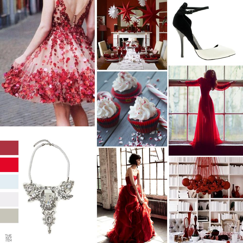 4 maneras de vestir rojo en Navidad