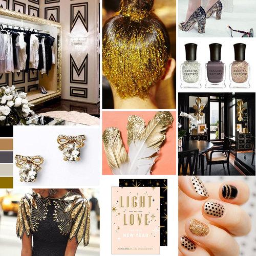 4 ideas para lucir un look negro con dorado