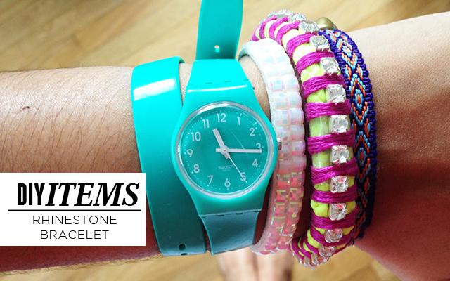 DIY Items / Rhinestone Bracelet