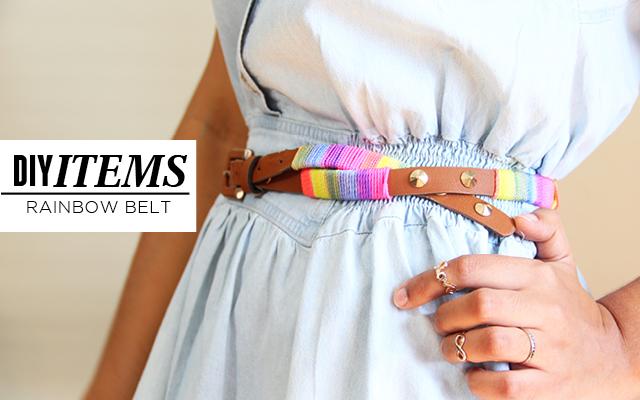 DIY Items // Rainbow Belt