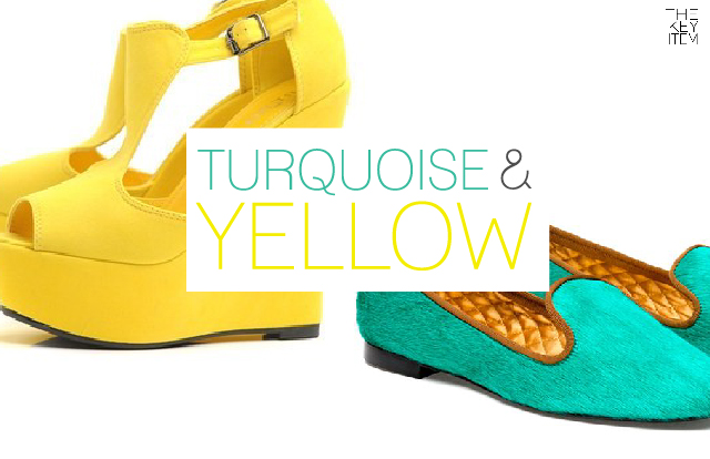Color Mix :: Turquoise & Yellow