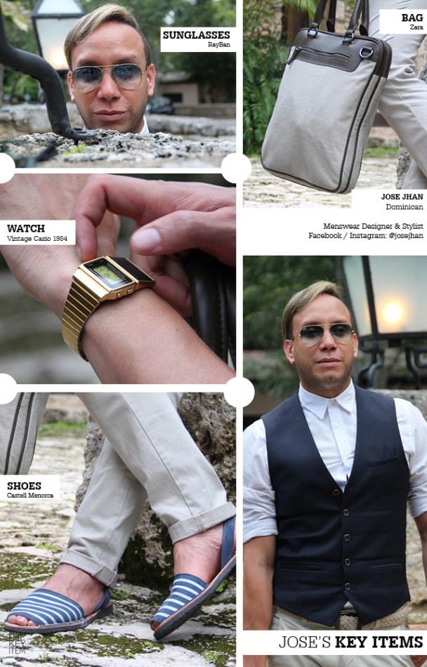 Jose Jhan, el famoso diseñador de moda dominicano, nos comparte sus piezas claves a la hora de vestirse.