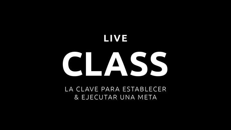 IG LIVE | La Clave Para Establecer & Ejecutar Una Meta