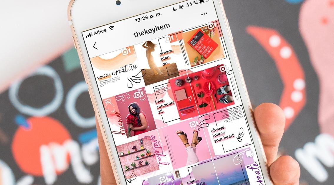 Inspiración Para Diseñar Un Feed de Rompecabezas en Instagram