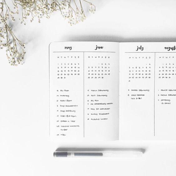 En el sistema bullet journal tu mismo te encargas de diseñar las páginas según tus necesidades. ¿No sabes por dónde empezar? Aquí encontrarás una lista de ideas creativas que te pueden funcionar y adaptar a tu estilo.
