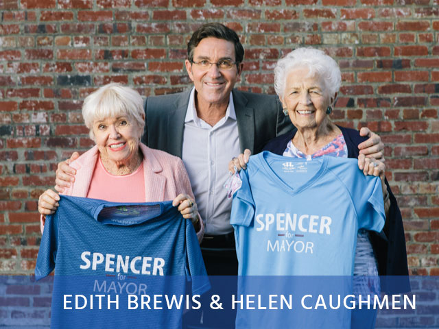 "Leaders of the ""Spencer for Mayor 90 & Up ""Squad."""