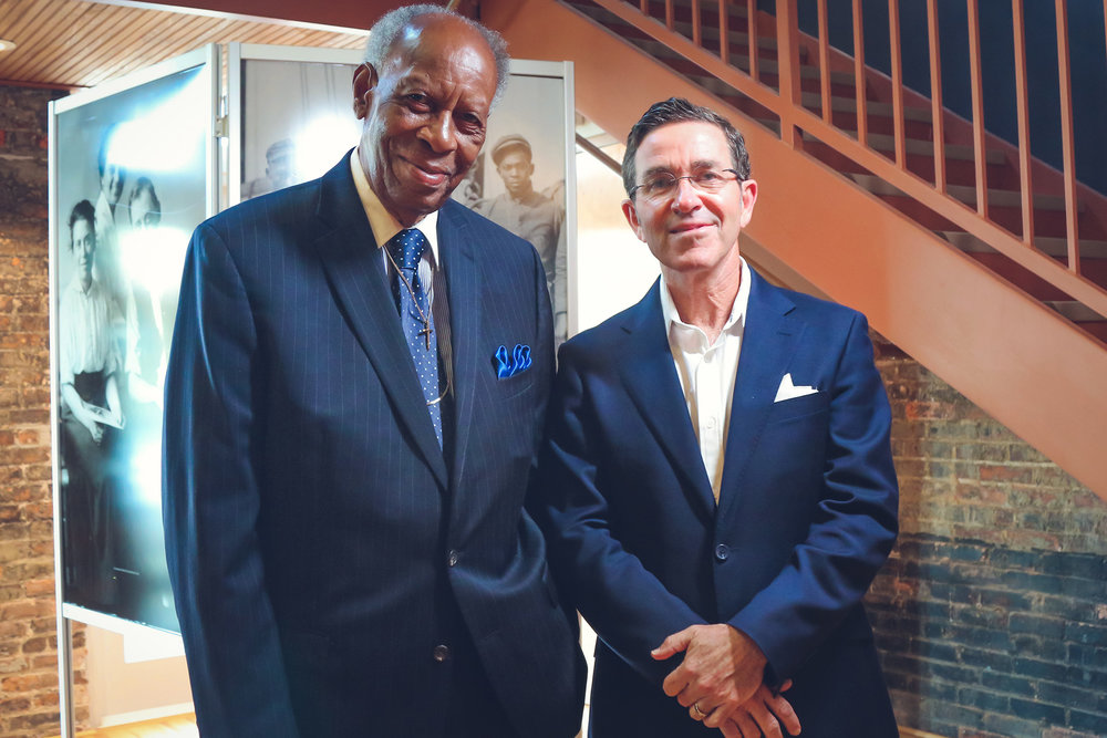 The Rev. H.K. Matthews and Brian Spencer.