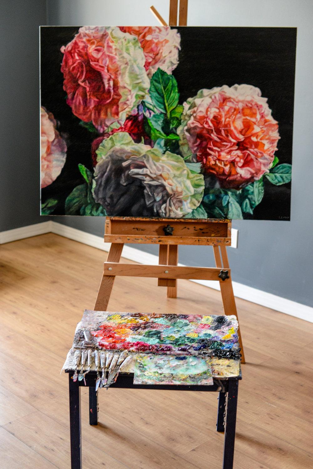 Robert Lemay painting