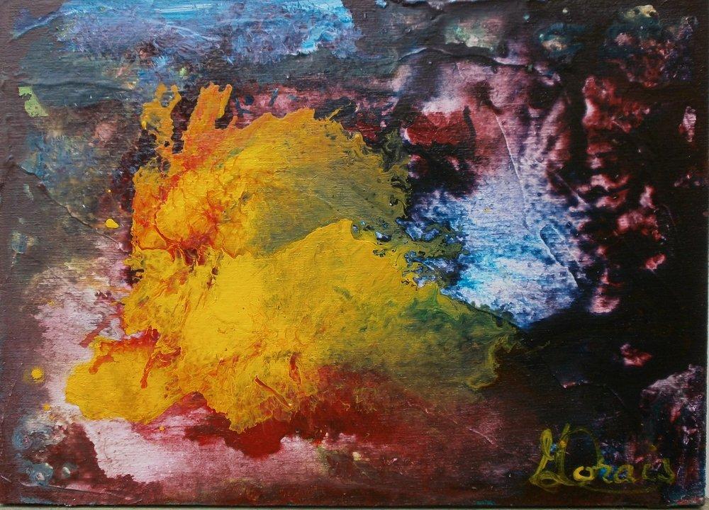 Le lac des cygnes, acrylique, 5 X 7 po..jpg