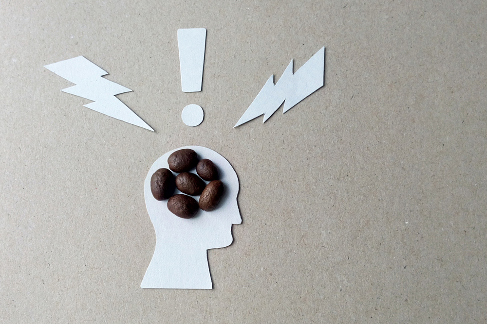 Caffeine with brain image