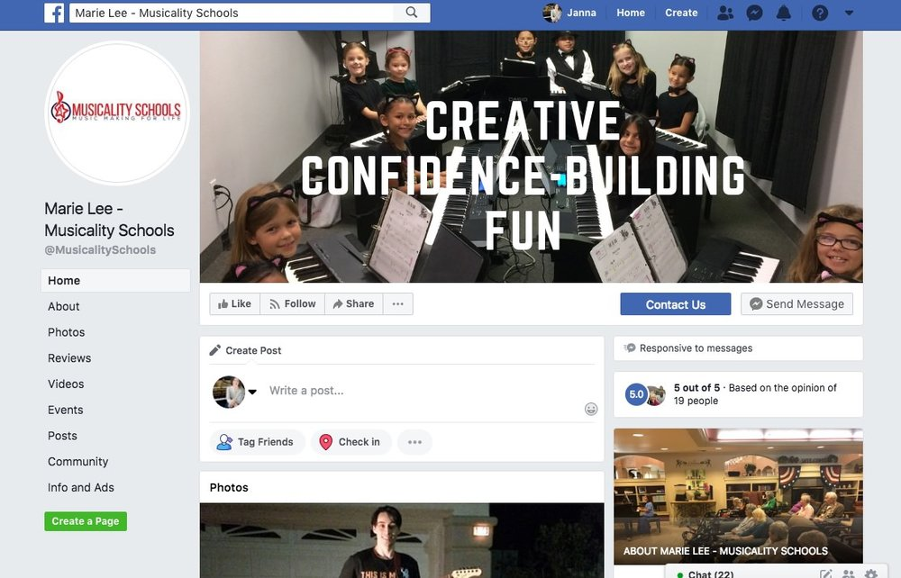 Musicality Schools on Facebook
