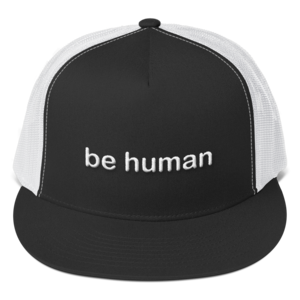 e889df8a481 be human embroidered trucker caps white lettering ...