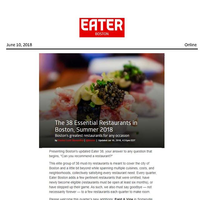 @eater @eaterboston @blumie625 So grateful to be part of this amazing list of restaurants which make our city of Boston a compelling place to live & visit & eat in. #citylife #restaurantlife #bostongirl #superproud #🐟🌊💦 🧜🏻‍♀️💕 Link in Bio