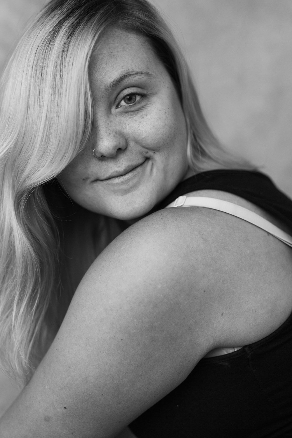 Amy challenged me and I felt WEIRD and also, surprisingly and refreshingly confident, beautiful, and carefree. - Thank you Amy for capturing me in a new and different way, and helping me to see the beauty in my skin every time you take my picture. I'm grateful for you.