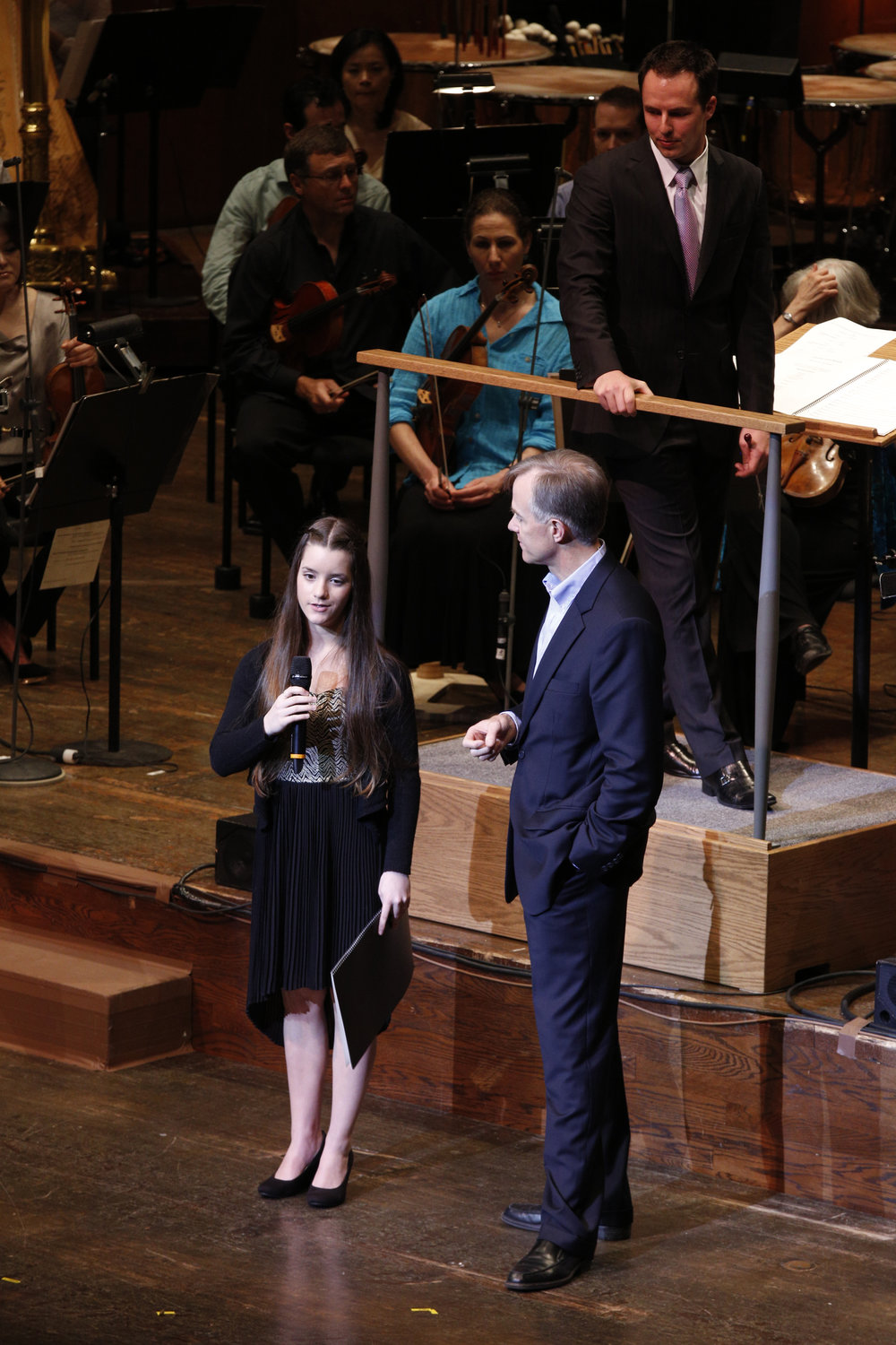 Speaking at the New York Philharmonic Performance
