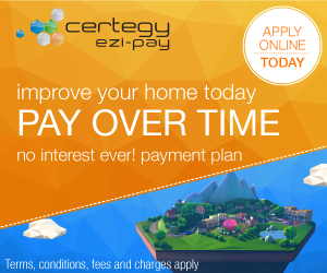 - To make your decision to make home improvements an easy one, we've teamed up with Certegy Ezi-Pay to offer convenient payment plans on our services.The best thing about Certegy Ezi-Pay is that you will pay No Interest Ever!* *Continuing credit provided by Certegy Ezi-Pay Pty Ltd. Fees (including Establishment Fee, Monthly Account Keeping fees and Payment Processing fees) charges, terms, conditions and lending criteria apply. Ask in-store for details or visit certegyezipay.com.au.Click here for details.