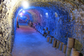 Inside the dormant 'dragon' kiln