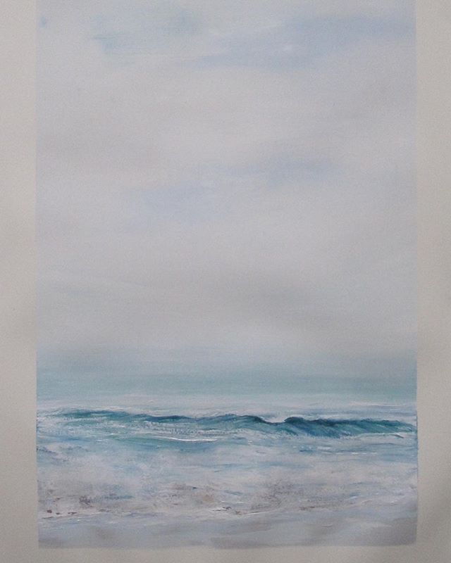 🏖. W.I.P.. whitewash. 600 x 900 . A1 . . . #interiordesign #australianart #instaart #beautifuldestinations #bronte #coogee #bondi #contemporaryart #modernart #seascape #waves #chrisramsey