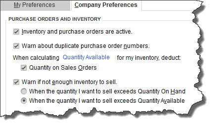 QuickBooks needs to know what your intentions are when it comes to inventory   tracking.