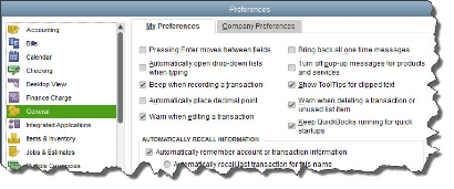 To start customizing QuickBooks so it works best for you, open the      Edit    menu and choose      Preferences   .