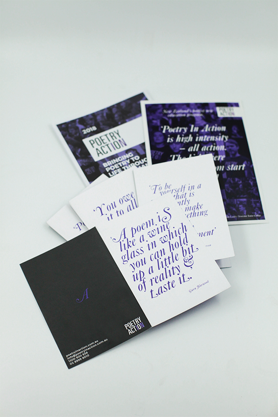 Poetry in Action   PRINT & DIGITAL COLLATERAL | BRAND & WEBSITE DEVELOPMENT