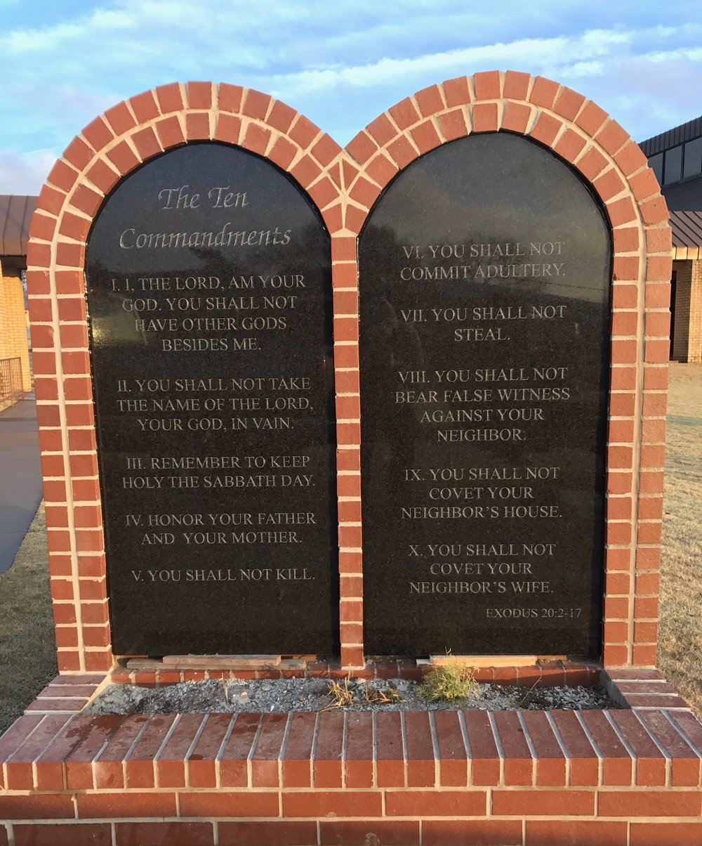10 Commandments, St. Wenceslaus Catholic Church, Prague, OK