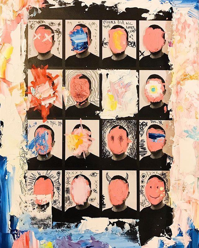 Where Did All The Happy People Go?  Mixed Media . . . #mixedmediaart #jenesisart #oilpainting #artwork #abstractart
