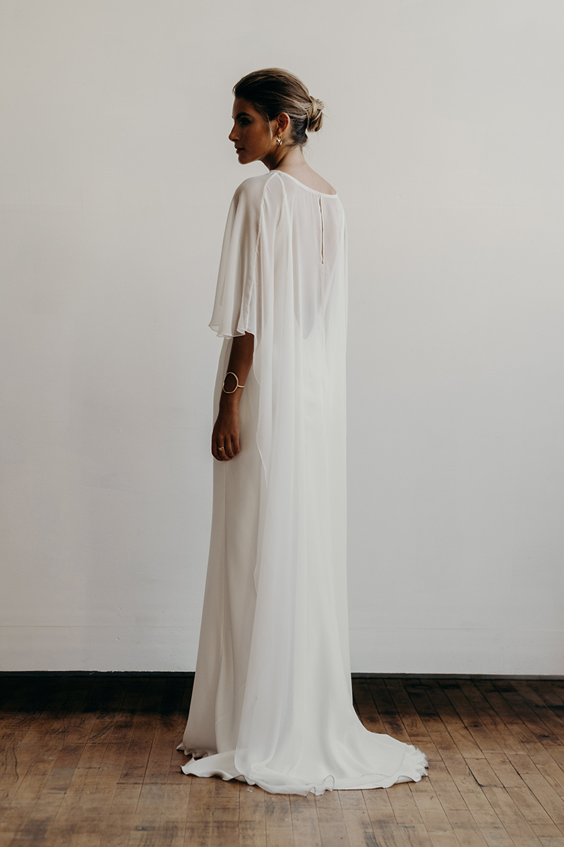 Long Chiffon Cape