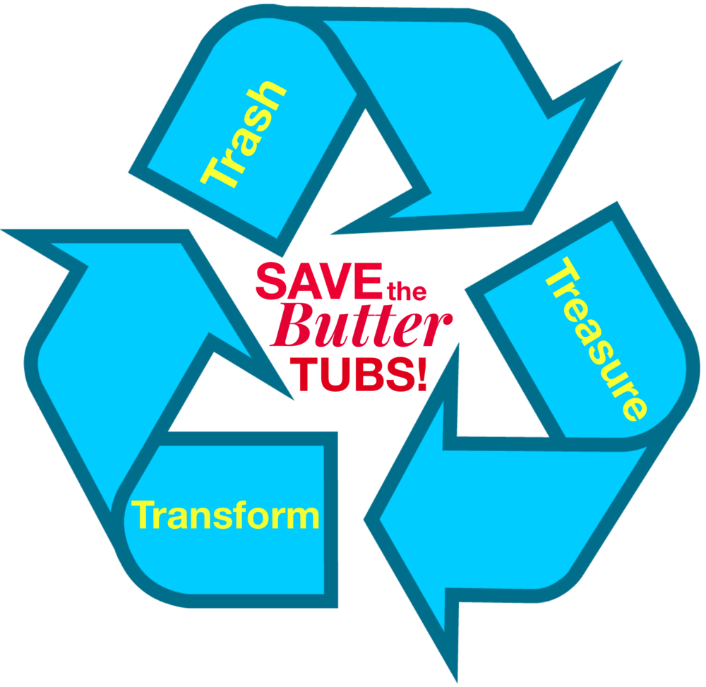 Save the Butter Tubs-trash-treasure-transform