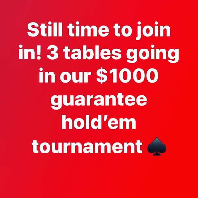 Come play tonight! $1000 guarantee! ♠️ #HighRollersSocialClub