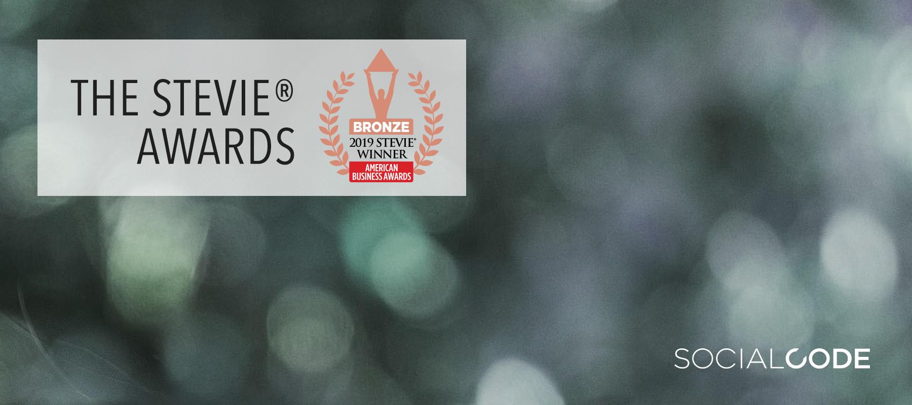 Tech Innovator of the Year - Stevie Awards 2019 — SocialCode