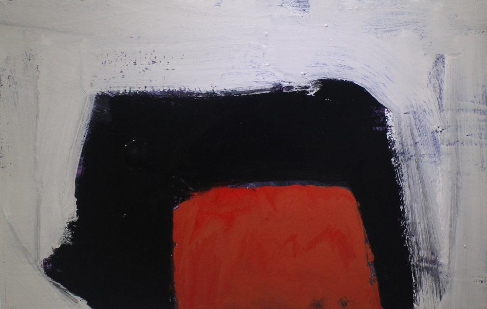 Something red I, 2014, enamel paint on canvas, 91 x 61 cm